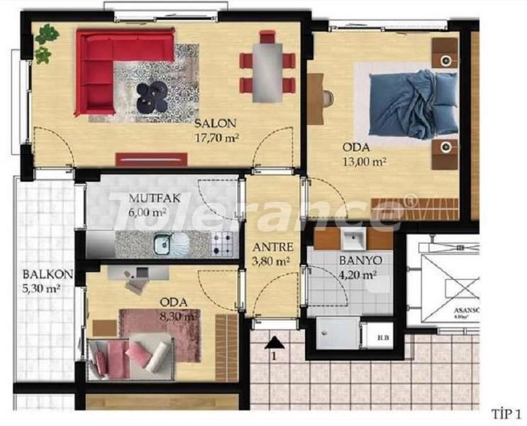 Недорогие трехкомнатные квартиры в Измире в комплексе с бассейном - 27466   Tolerance Homes