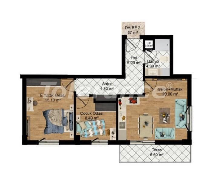 Выгодные инвестиции: квартиры в Кепезе, Анталия в рассрочку от застройщика - 27581 | Tolerance Homes
