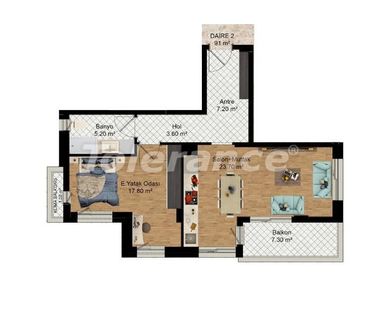 Выгодные инвестиции: квартиры в Кепезе, Анталия в рассрочку от застройщика - 27589 | Tolerance Homes