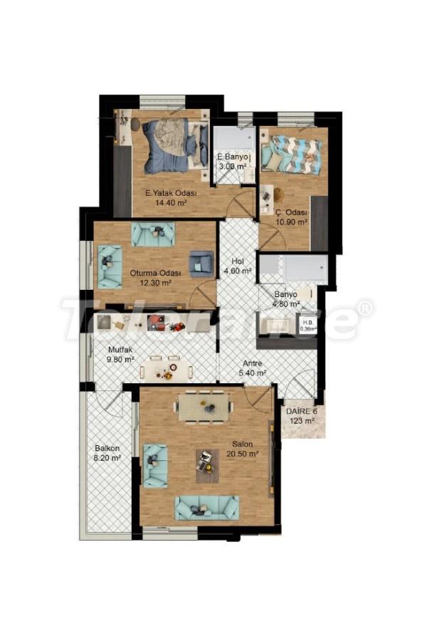Выгодные инвестиции: квартиры в Кепезе, Анталия в рассрочку от застройщика - 27588 | Tolerance Homes