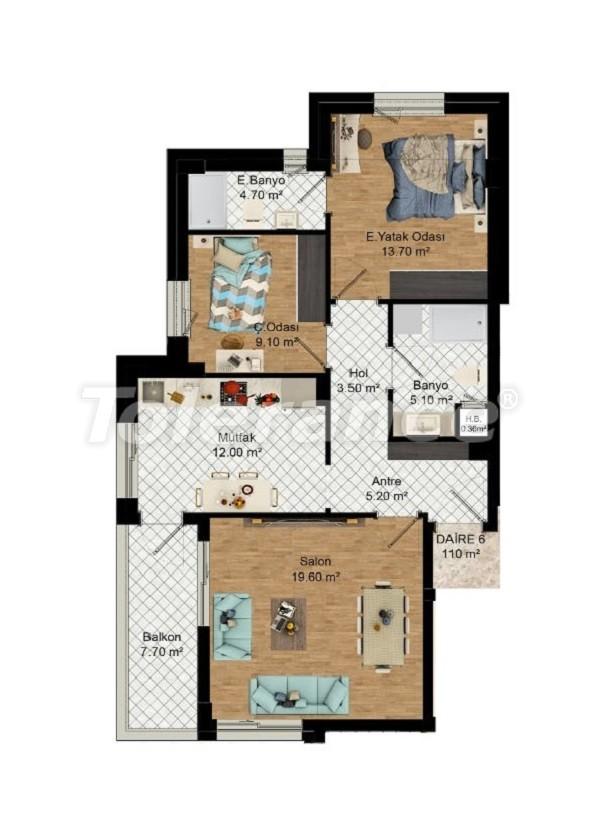 Выгодные инвестиции: квартиры в Кепезе, Анталия в рассрочку от застройщика - 27584 | Tolerance Homes