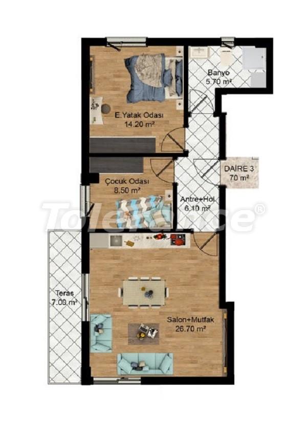 Выгодные инвестиции: квартиры в Кепезе, Анталия в рассрочку от застройщика - 27582 | Tolerance Homes