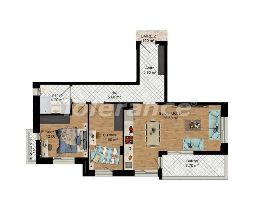 Выгодные инвестиции: квартиры в Кепезе, Анталия в рассрочку от застройщика - 27586 | Tolerance Homes