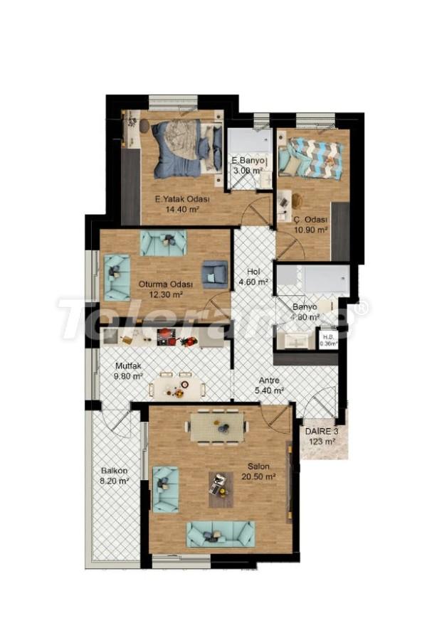 Выгодные инвестиции: квартиры в Кепезе, Анталия в рассрочку от застройщика - 27590 | Tolerance Homes