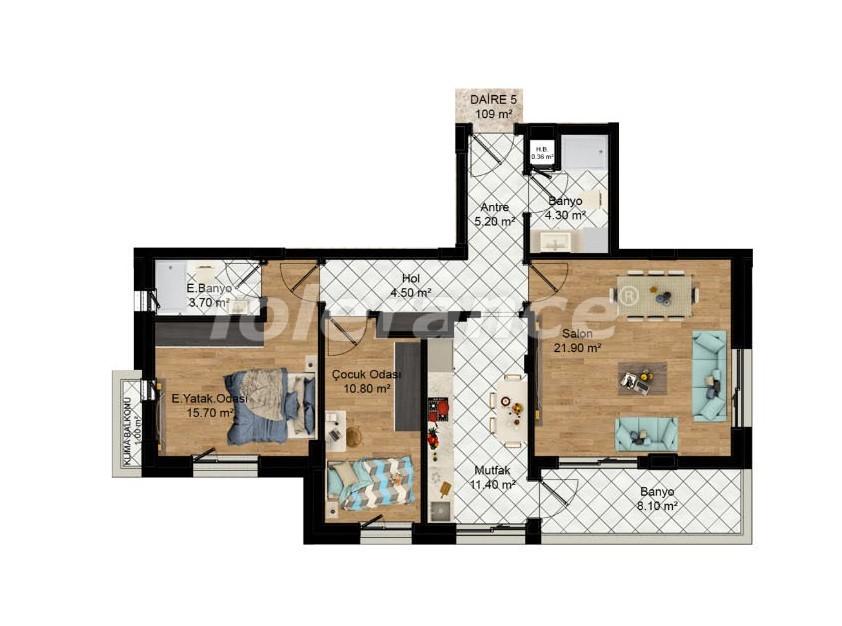 Выгодные инвестиции: квартиры в Кепезе, Анталия в рассрочку от застройщика - 27579 | Tolerance Homes