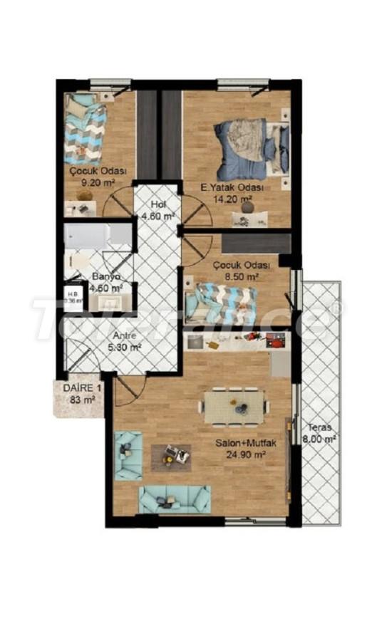 Выгодные инвестиции: квартиры в Кепезе, Анталия в рассрочку от застройщика - 27583 | Tolerance Homes