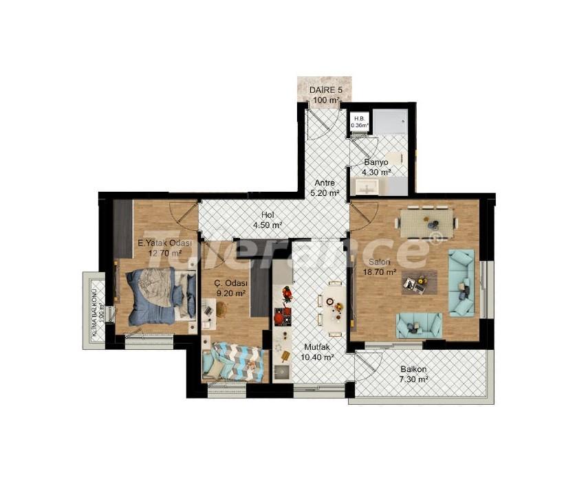 Выгодные инвестиции: квартиры в Кепезе, Анталия в рассрочку от застройщика - 27587 | Tolerance Homes