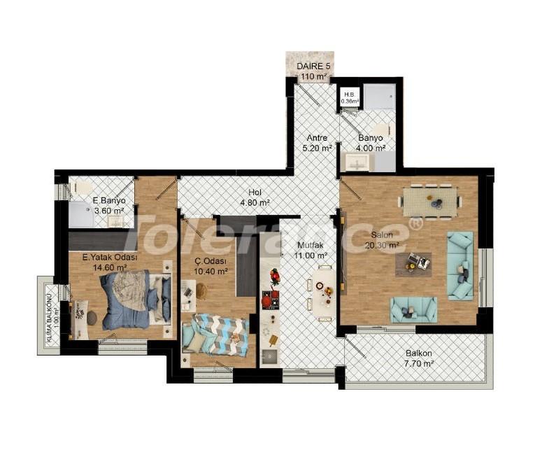 Выгодные инвестиции: квартиры в Кепезе, Анталия в рассрочку от застройщика - 27585 | Tolerance Homes