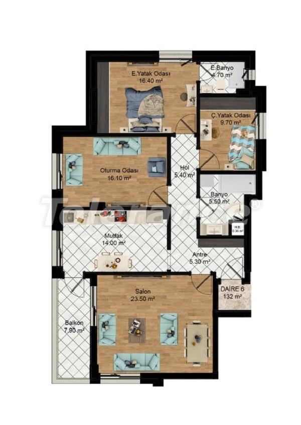 Выгодные инвестиции: квартиры в Кепезе, Анталия в рассрочку от застройщика - 27580 | Tolerance Homes
