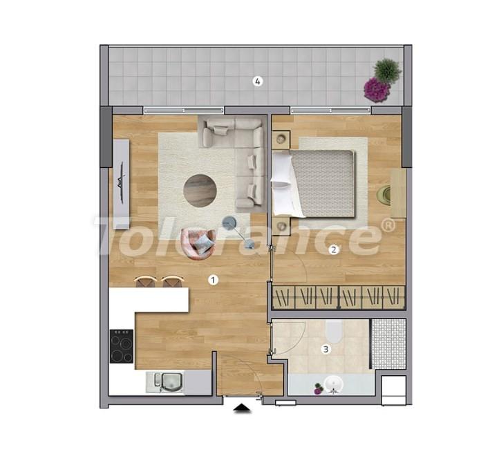 Просторные квартиры в Эсенюрте, Стамбул в современном комплексе с рассрочкой до 1 года - 27597   Tolerance Homes