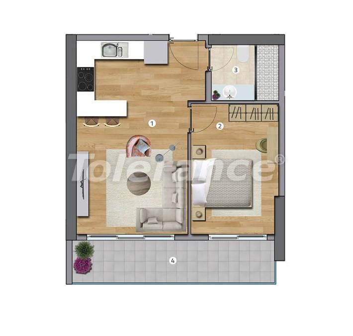 Просторные квартиры в Эсенюрте, Стамбул в современном комплексе с рассрочкой до 1 года - 27595   Tolerance Homes