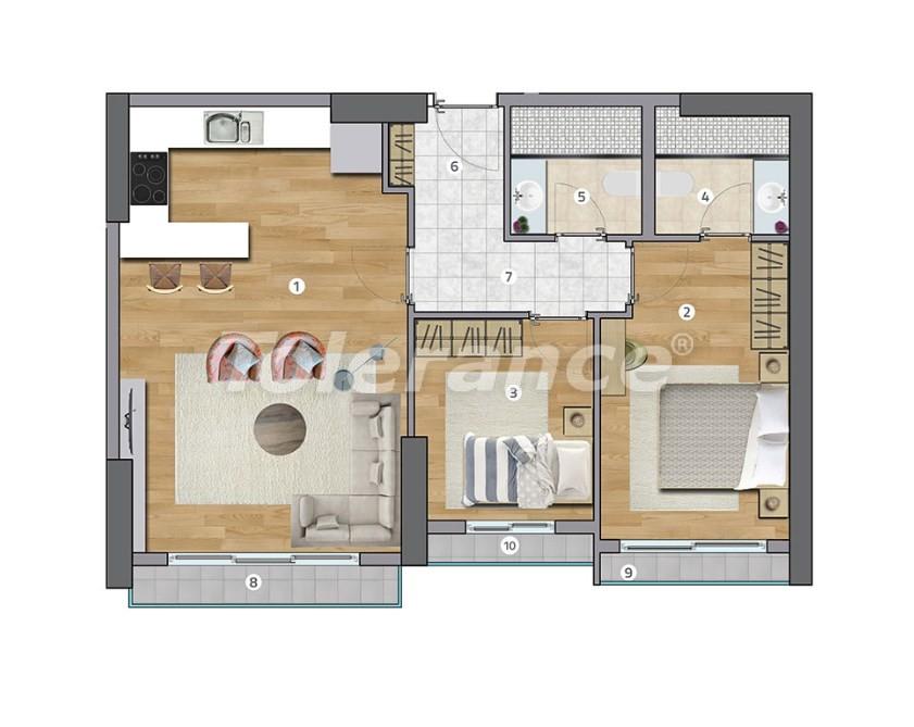 Просторные квартиры в Эсенюрте, Стамбул в современном комплексе с рассрочкой до 1 года - 27598   Tolerance Homes
