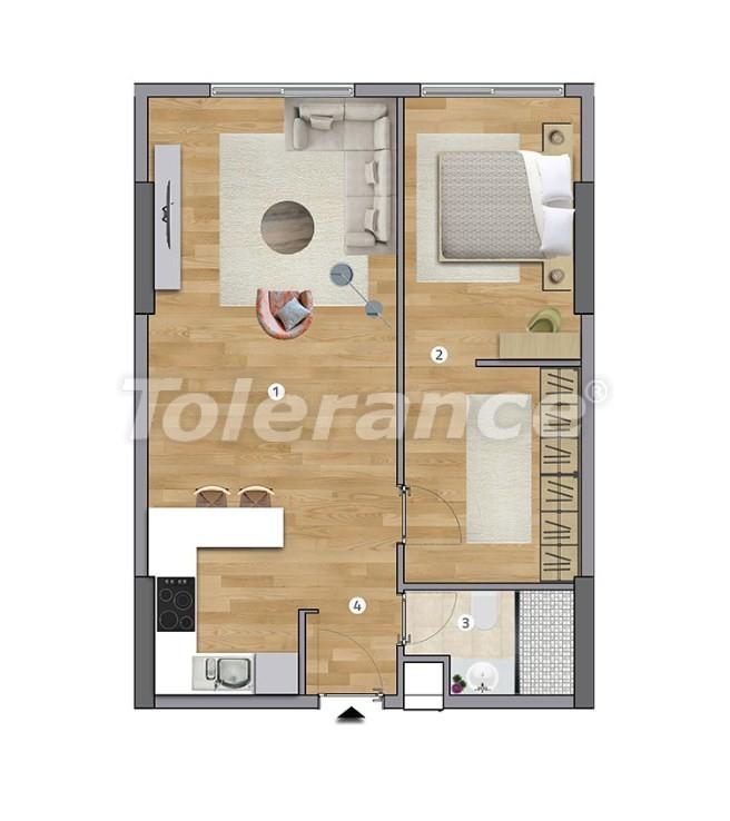 Просторные квартиры в Эсенюрте, Стамбул в современном комплексе с рассрочкой до 1 года - 27596   Tolerance Homes