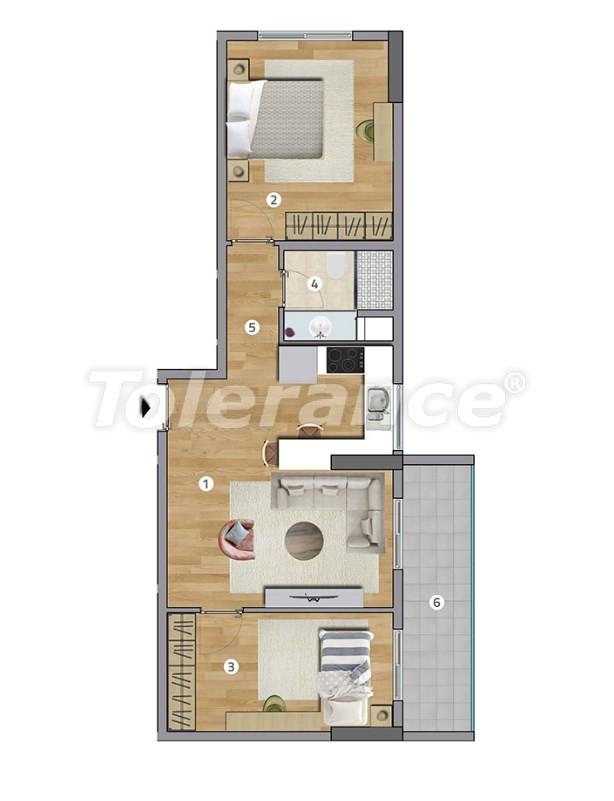 Просторные квартиры в Эсенюрте, Стамбул в современном комплексе с рассрочкой до 1 года - 27600   Tolerance Homes