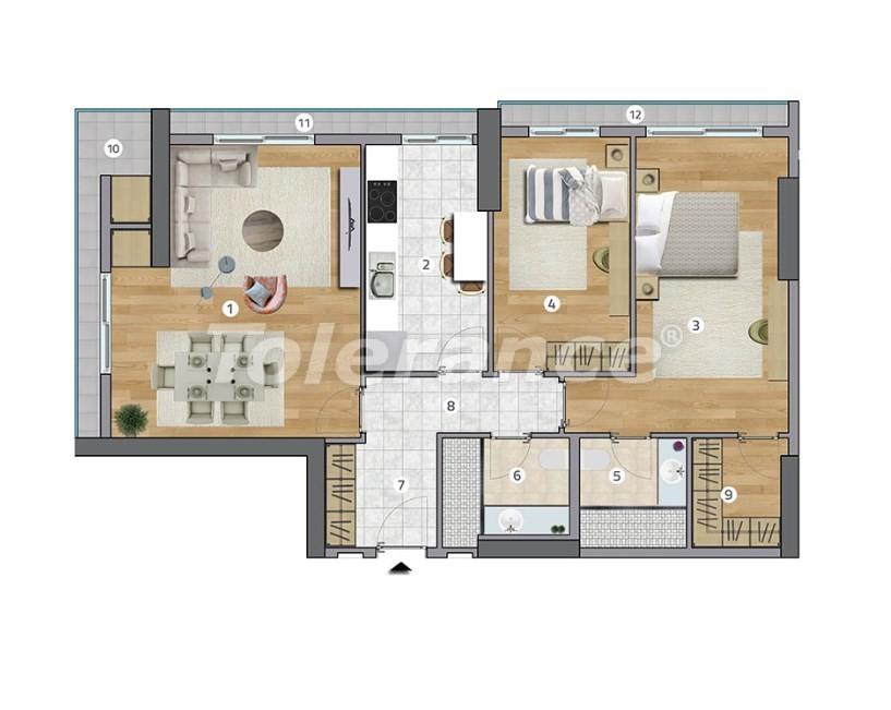 Просторные квартиры в Эсеньюрте, Стамбул в современном комплексе с рассрочкой до 1 года - 27599 | Tolerance Homes