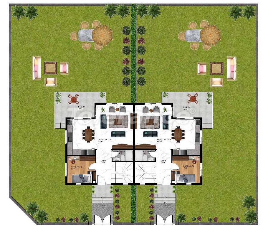 Недорогие современные виллы в Каргыджаке, Алания в комплексе с бассейном с рассрочкой от застройщика - 27606 | Tolerance Homes