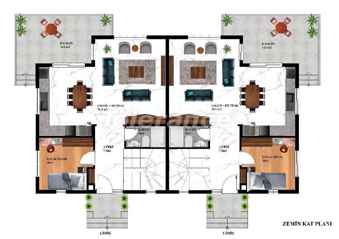 Недорогие современные виллы в Каргыджаке, Алания в комплексе с бассейном с рассрочкой от застройщика - 27607 | Tolerance Homes