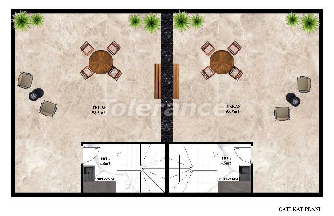 Недорогие современные виллы в Каргыджаке, Алания в комплексе с бассейном с рассрочкой от застройщика - 27609 | Tolerance Homes