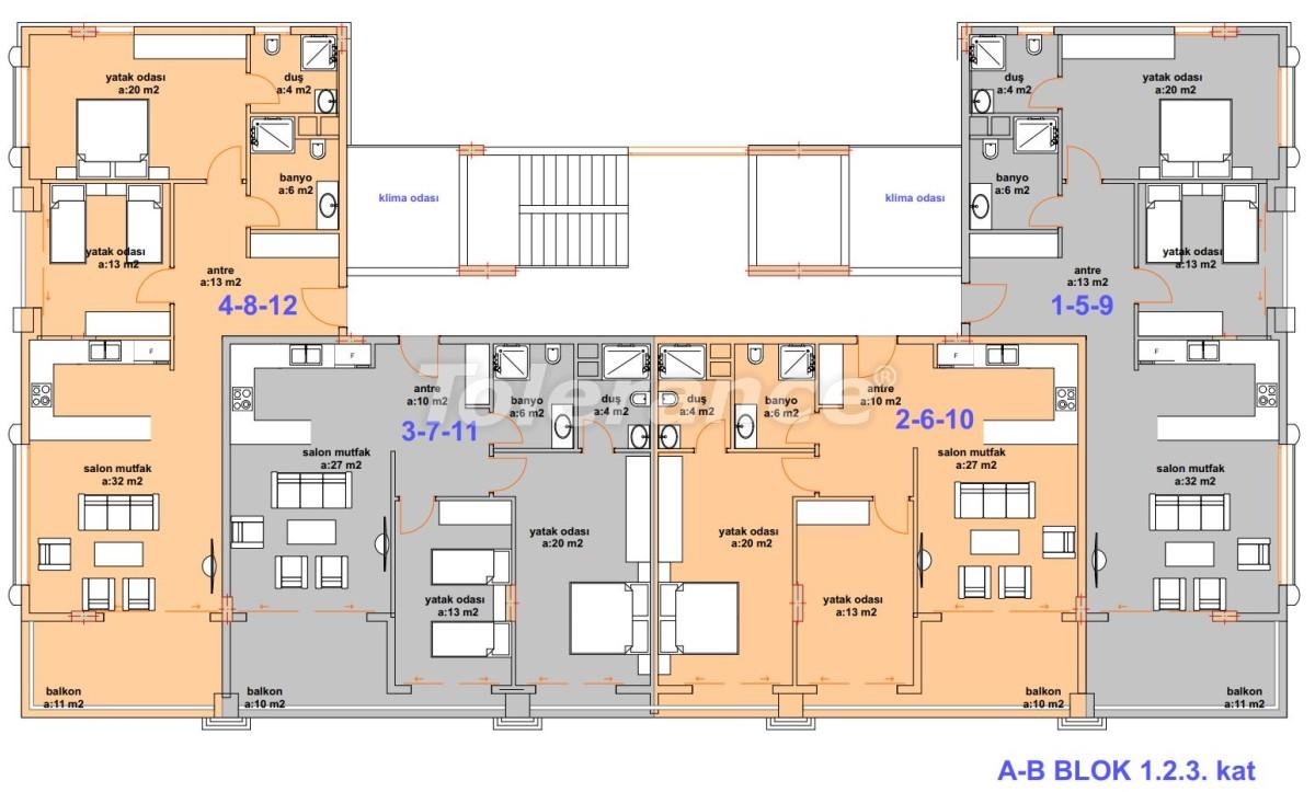 Роскошные современные апартаменты в Каргыджаке, всего в 300 метрах от моря - 27755   Tolerance Homes
