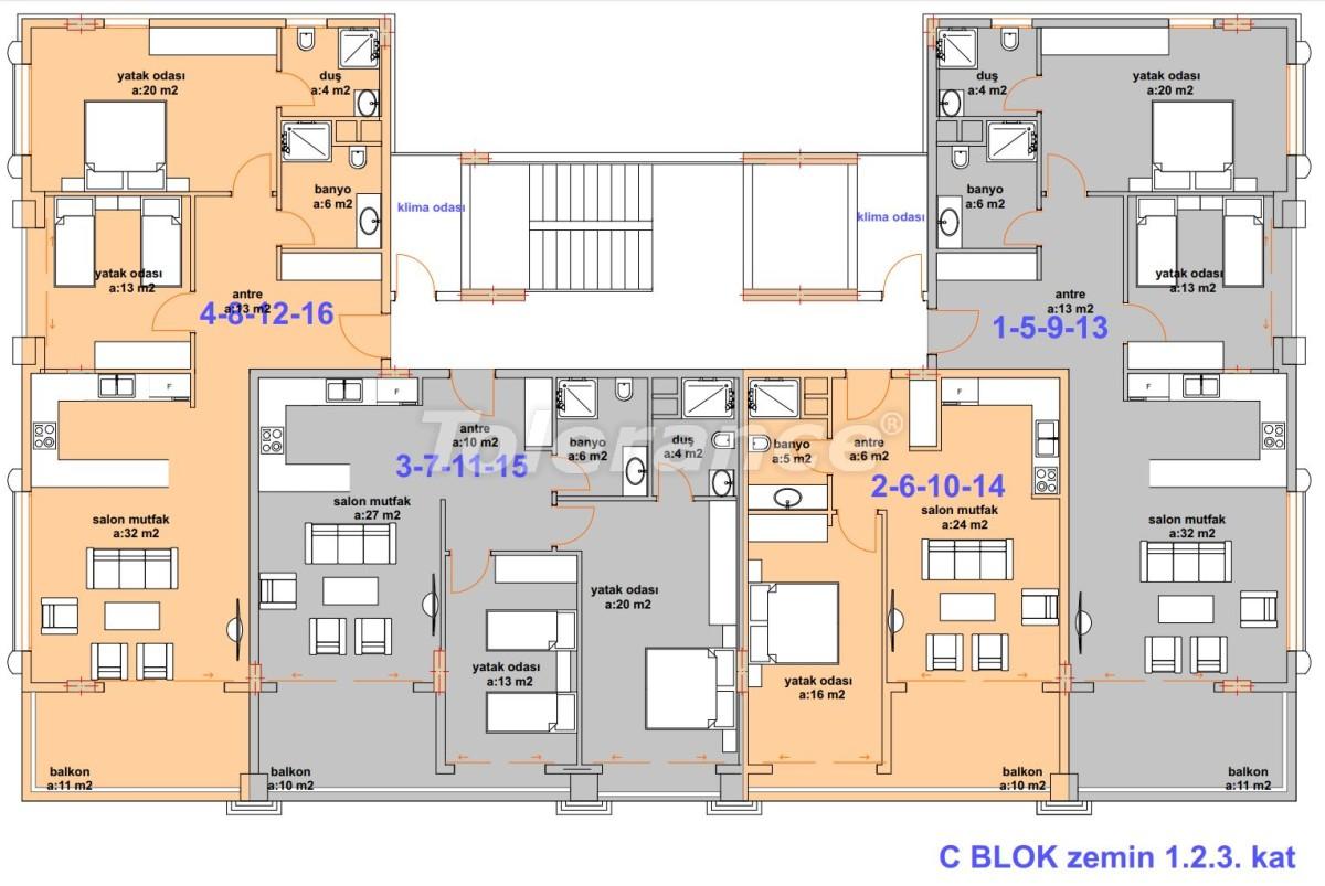 Роскошные современные апартаменты в Каргыджаке, всего в 300 метрах от моря - 27760   Tolerance Homes