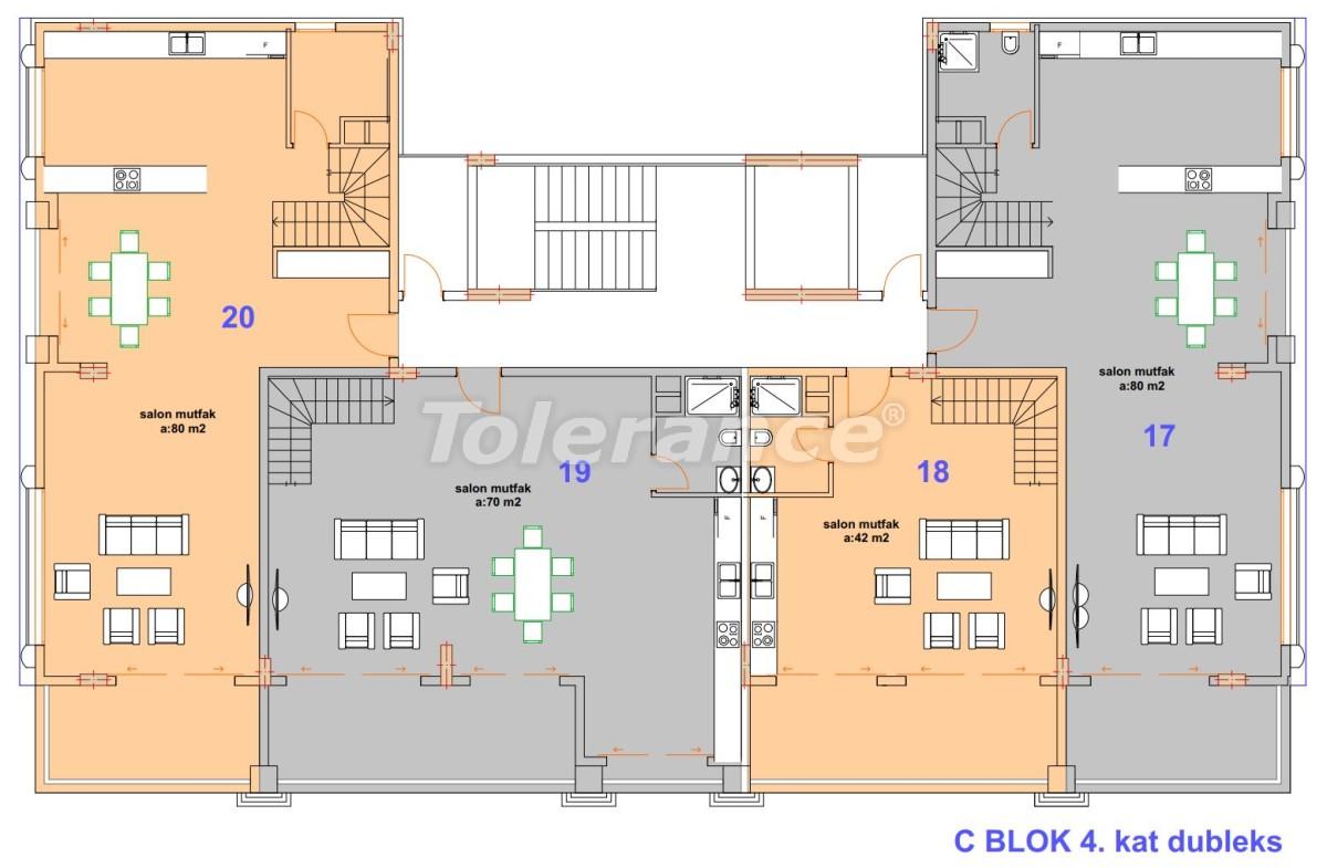 Роскошные современные апартаменты в Каргыджаке, всего в 300 метрах от моря - 27758   Tolerance Homes