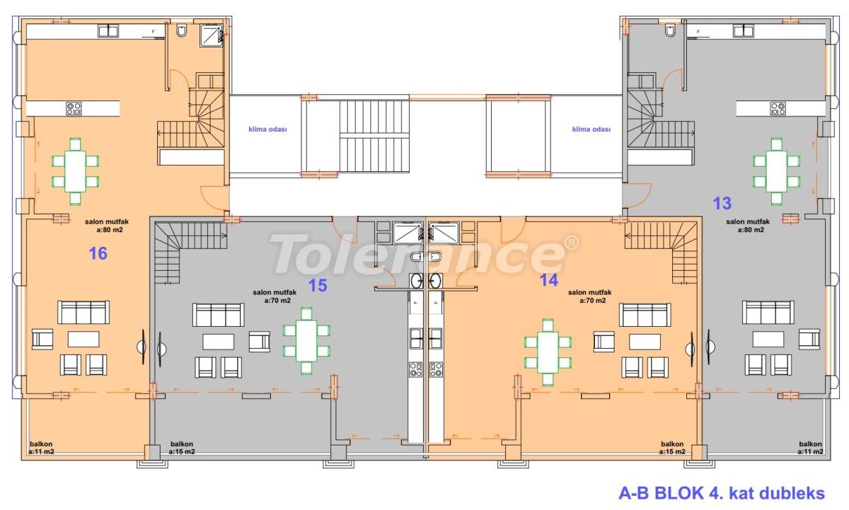 Роскошные современные апартаменты в Каргыджаке, всего в 300 метрах от моря - 27756   Tolerance Homes