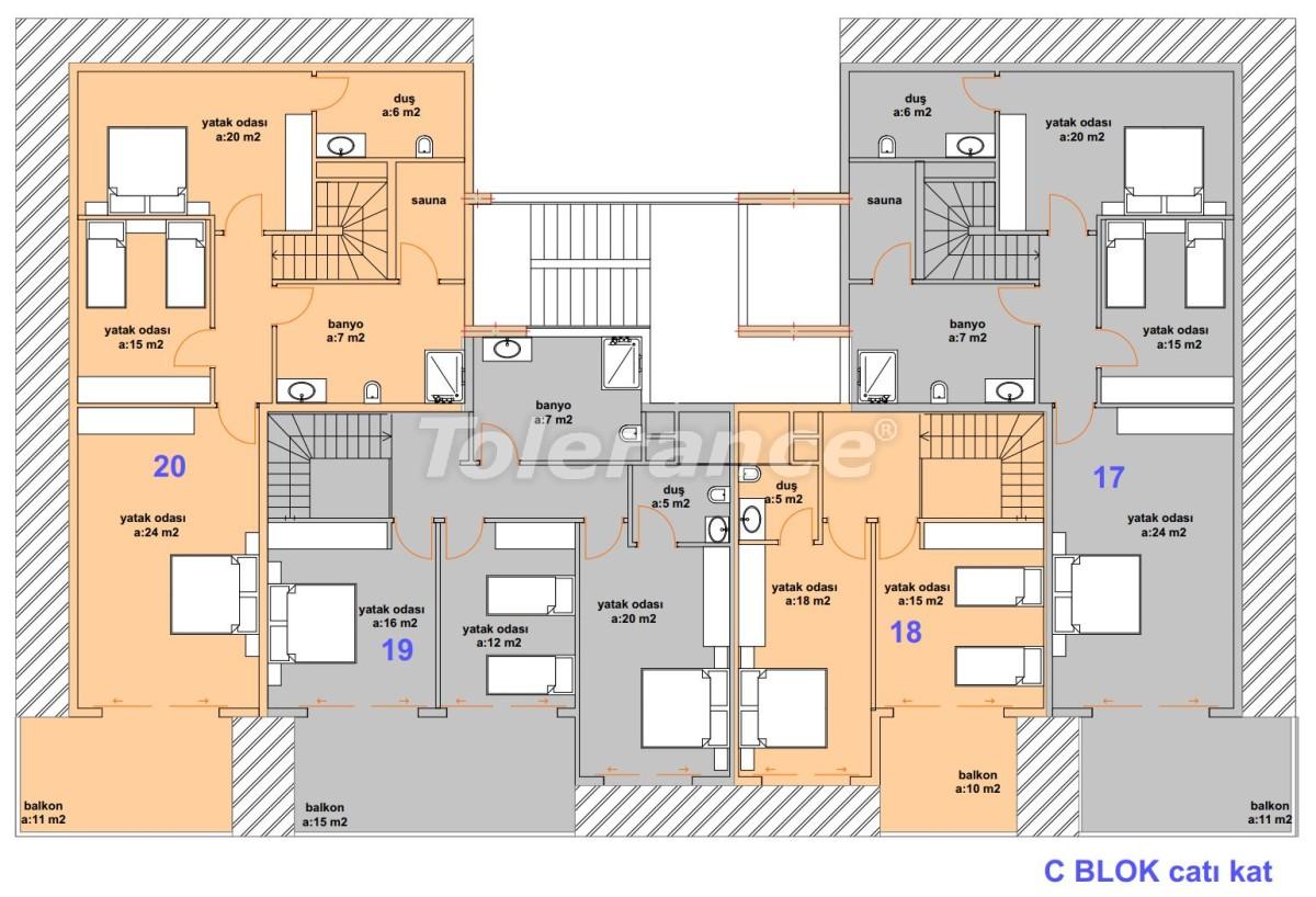 Роскошные современные апартаменты в Каргыджаке, всего в 300 метрах от моря - 27759   Tolerance Homes