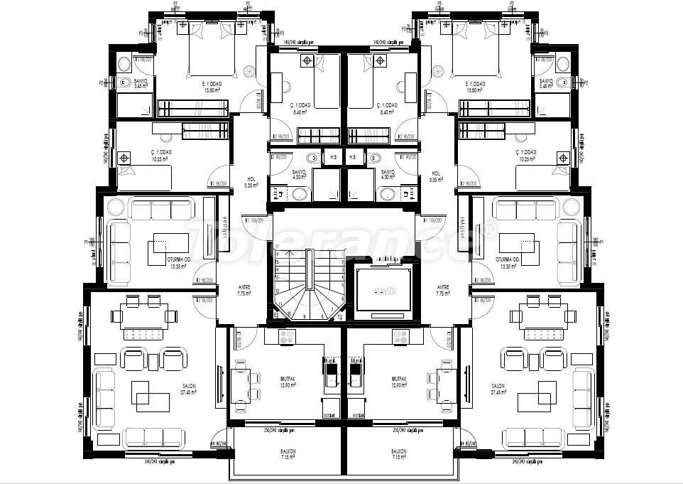 Недорогие просторные квартиры класса люкс в Муратпаша, Анталия в рассрочку от застройщика - 27812 | Tolerance Homes
