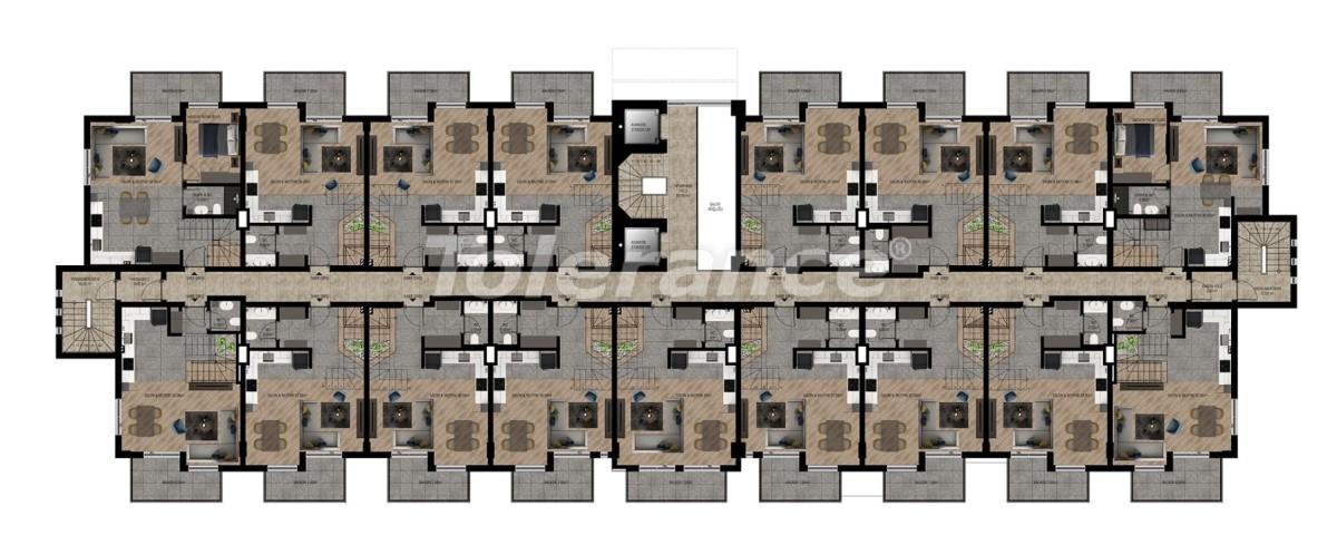 Шикарные квартиры в Ларе, Анталия в комплексе с бассейном с рассрочкой от застройщика - 28417 | Tolerance Homes