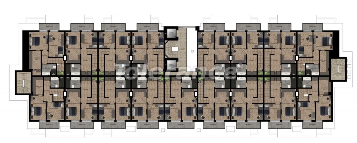 Шикарные квартиры в Ларе, Анталия в комплексе с бассейном с рассрочкой от застройщика - 28419   Tolerance Homes