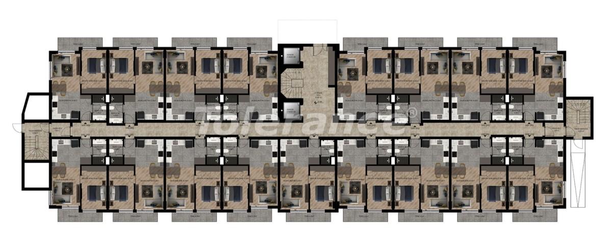 Шикарные квартиры в Ларе, Анталия в комплексе с бассейном с рассрочкой от застройщика - 28420   Tolerance Homes