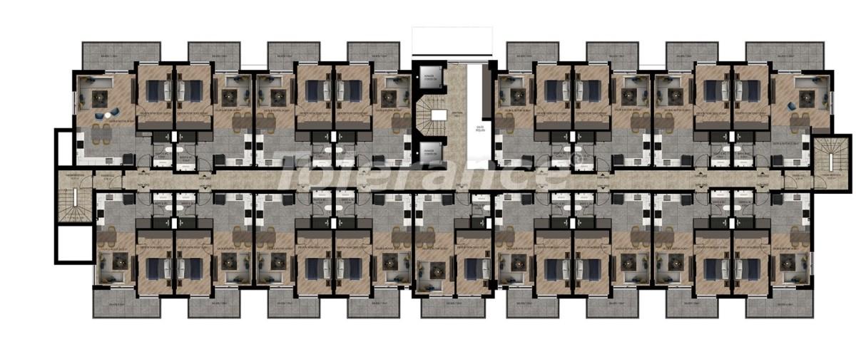 Шикарные квартиры в Ларе, Анталия в комплексе с бассейном с рассрочкой от застройщика - 28418 | Tolerance Homes