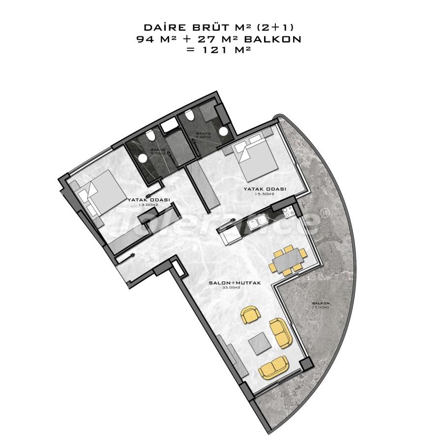 Комплекс премиум-класса, всего в 200 метрах от моря - 27947 | Tolerance Homes