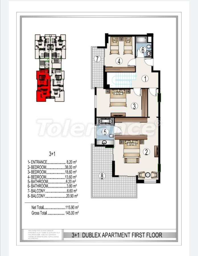Элитный комплекс в центре Махмутлара, всего 50 м до пляжа - 28189 | Tolerance Homes