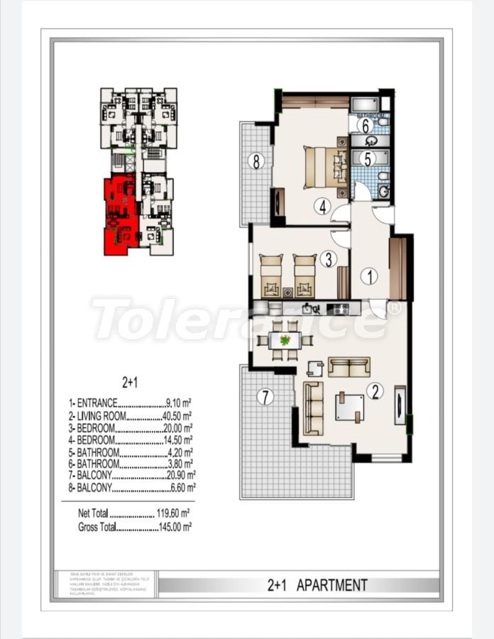 Элитный комплекс в центре Махмутлара, всего 50 м до пляжа - 28182 | Tolerance Homes