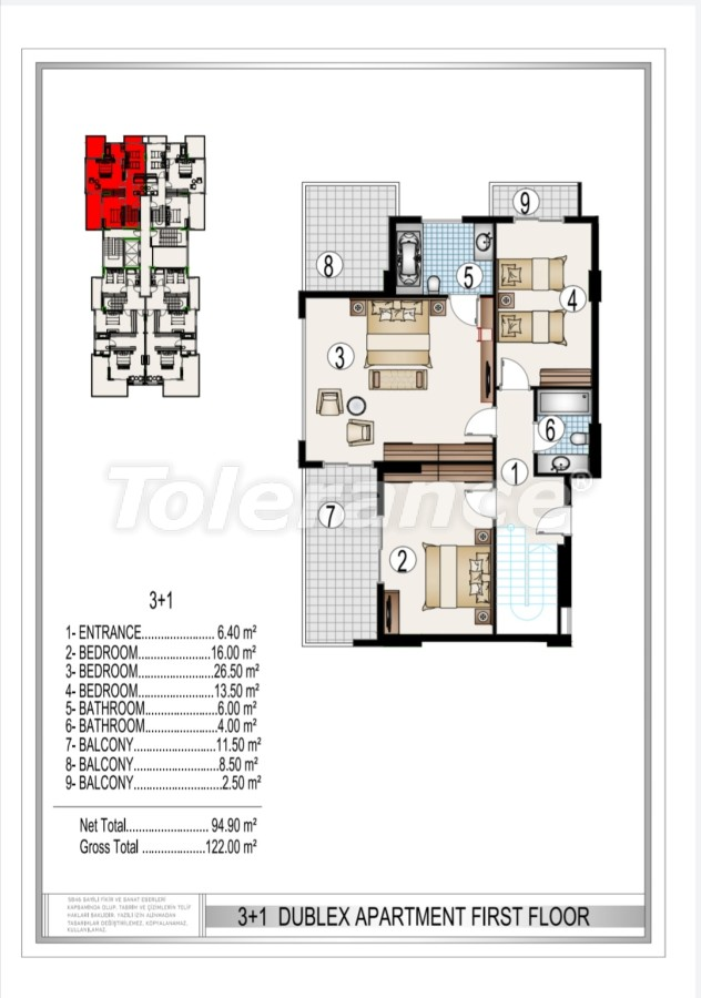 Элитный комплекс в центре Махмутлара, всего 50 м до пляжа - 28185 | Tolerance Homes