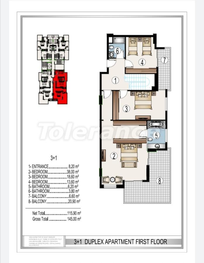 Элитный комплекс в центре Махмутлара, всего 50 м до пляжа - 28188 | Tolerance Homes