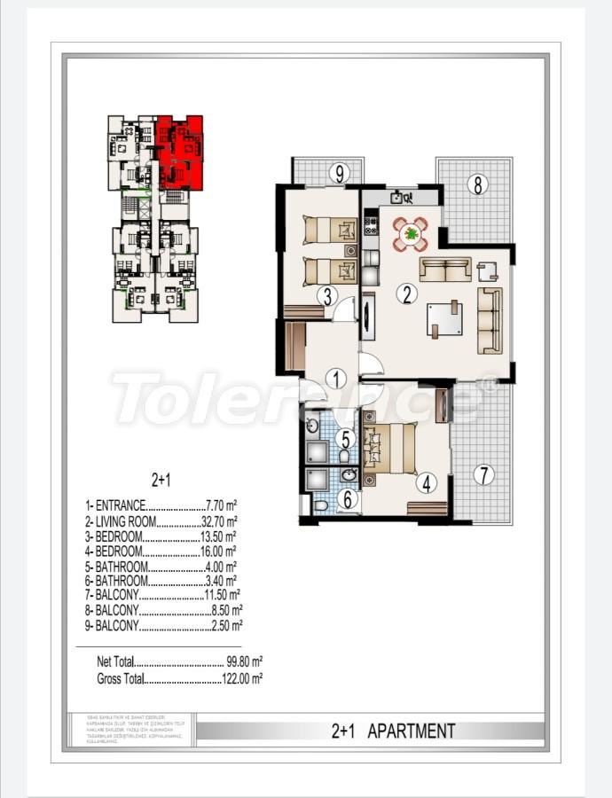 Элитный комплекс в центре Махмутлара, всего 50 м до пляжа - 28183 | Tolerance Homes