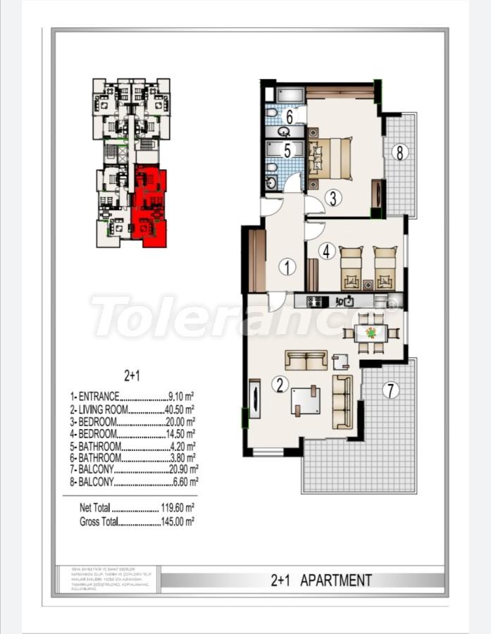 Элитный комплекс в центре Махмутлара, всего 50 м до пляжа - 28181 | Tolerance Homes