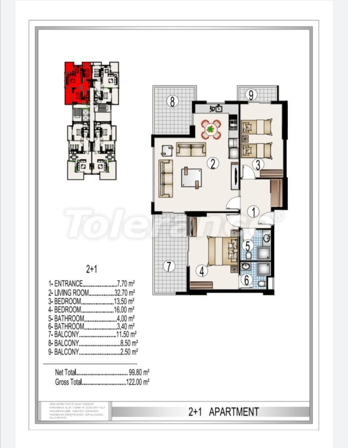 Элитный комплекс в центре Махмутлара, всего 50 м до пляжа - 28184 | Tolerance Homes