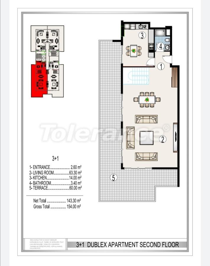 Элитный комплекс в центре Махмутлара, всего 50 м до пляжа - 28186 | Tolerance Homes