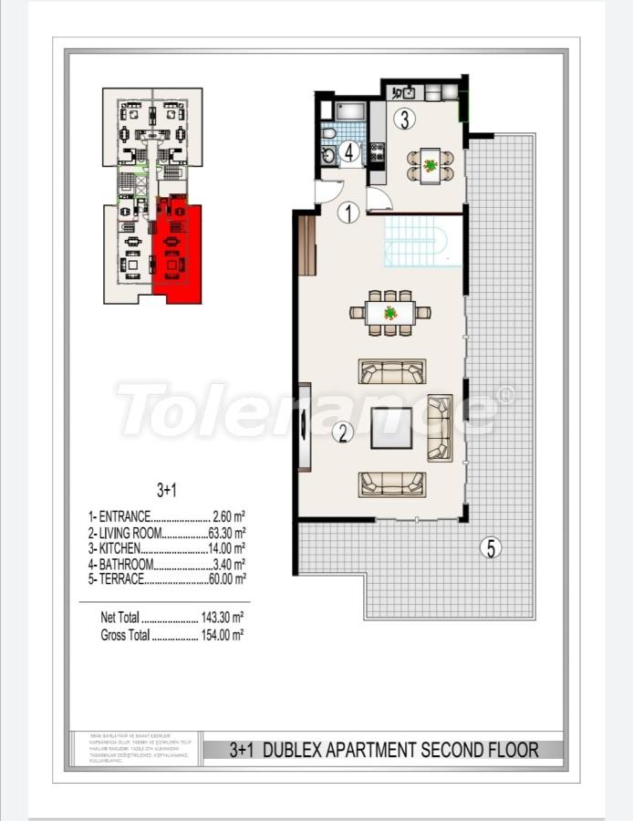 Элитный комплекс в центре Махмутлара, всего 50 м до пляжа - 28179 | Tolerance Homes