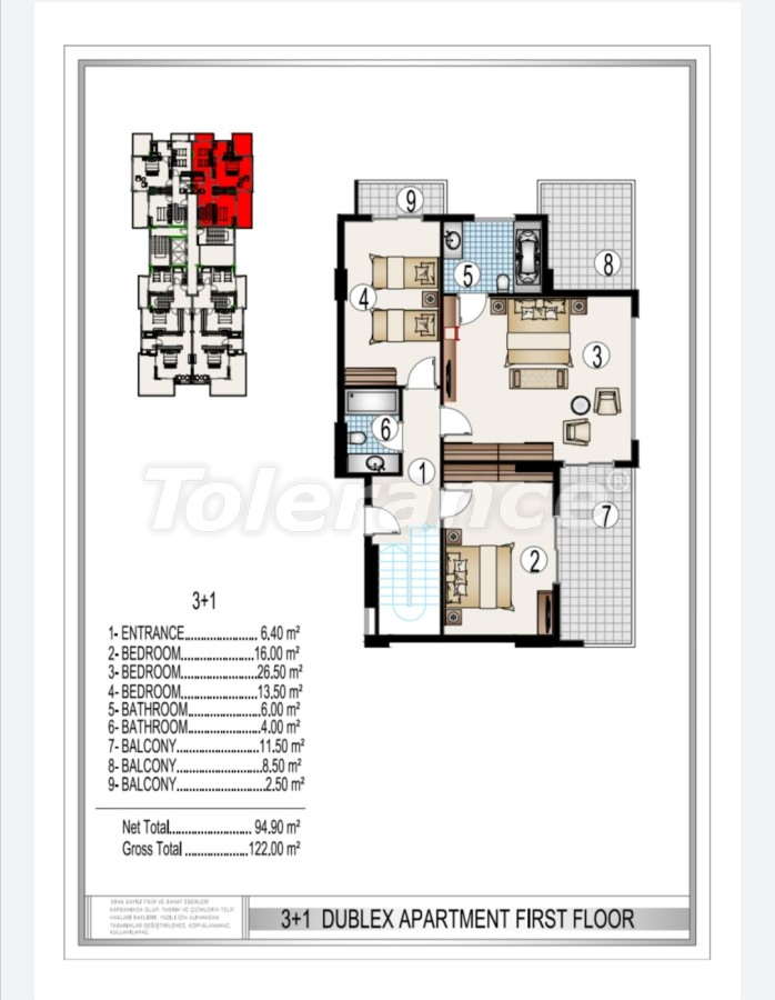 Элитный комплекс в центре Махмутлара, всего 50 м до пляжа - 28190 | Tolerance Homes