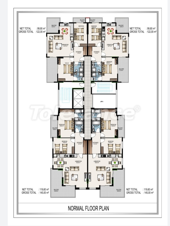 Элитный комплекс в центре Махмутлара, всего 50 м до пляжа - 28193 | Tolerance Homes