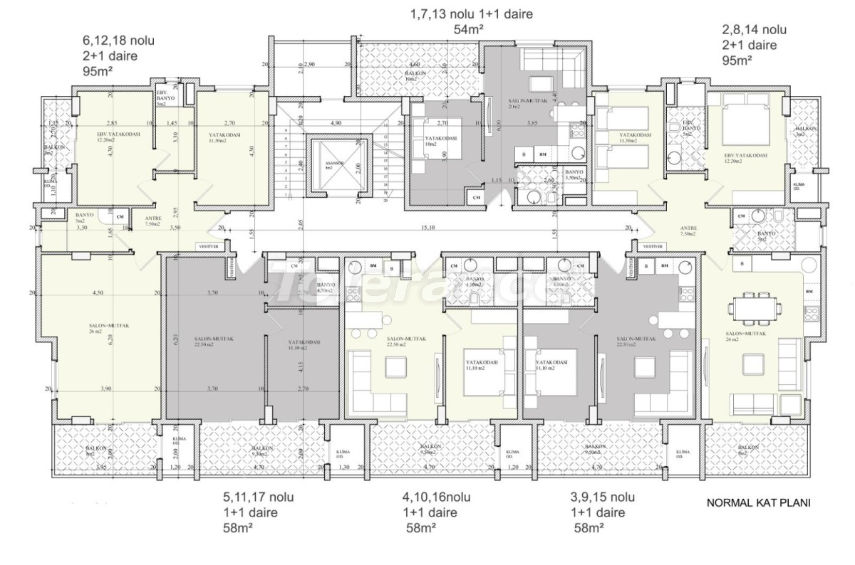 Высококачественные апартаменты в Алании (Клеопатра) - 28296 | Tolerance Homes