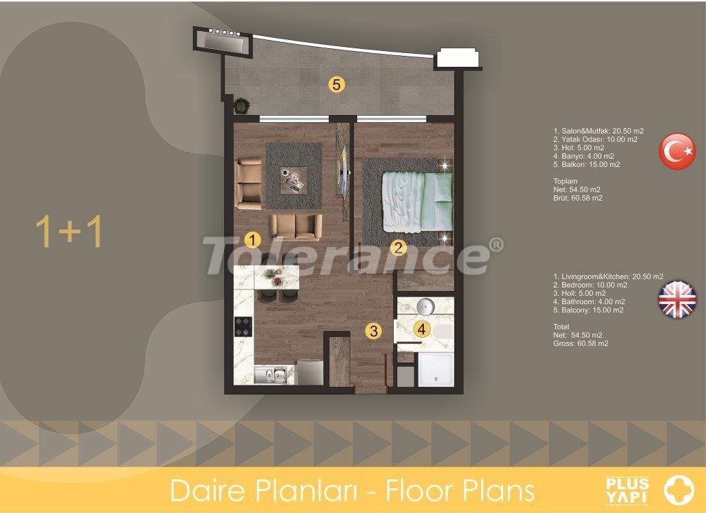 Современные квартиры в Оба, от надежного застройщика с рассрочкой - 28717 | Tolerance Homes