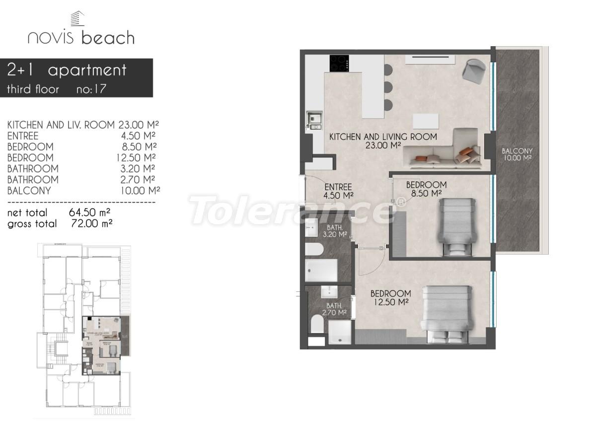Современный комплекс в Кестеле от застройщика с прекрасным видом на море и горы - 28415 | Tolerance Homes