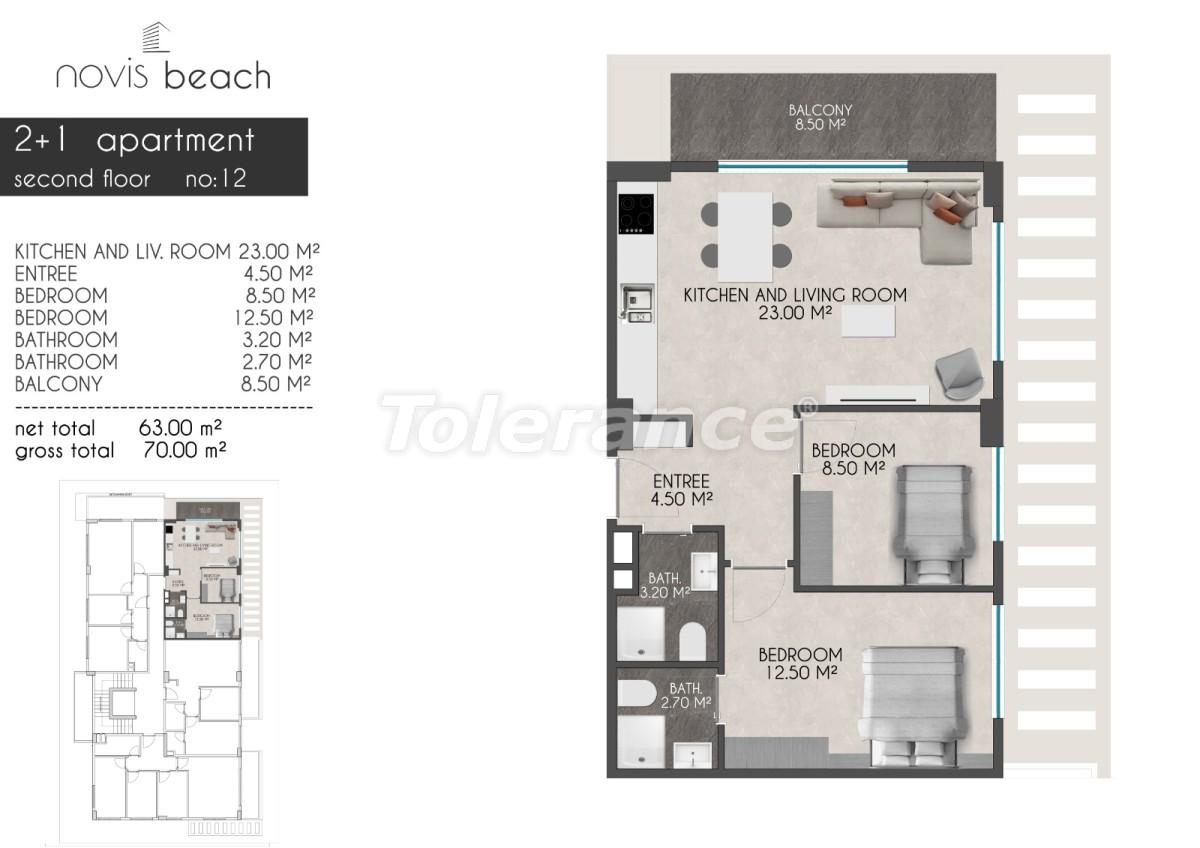 Современный комплекс в Кестеле от застройщика с прекрасным видом на море и горы - 28416 | Tolerance Homes