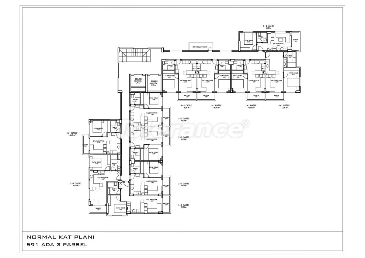 Новые апартаменты в Oба в комплексе с бассейном - 28458 | Tolerance Homes