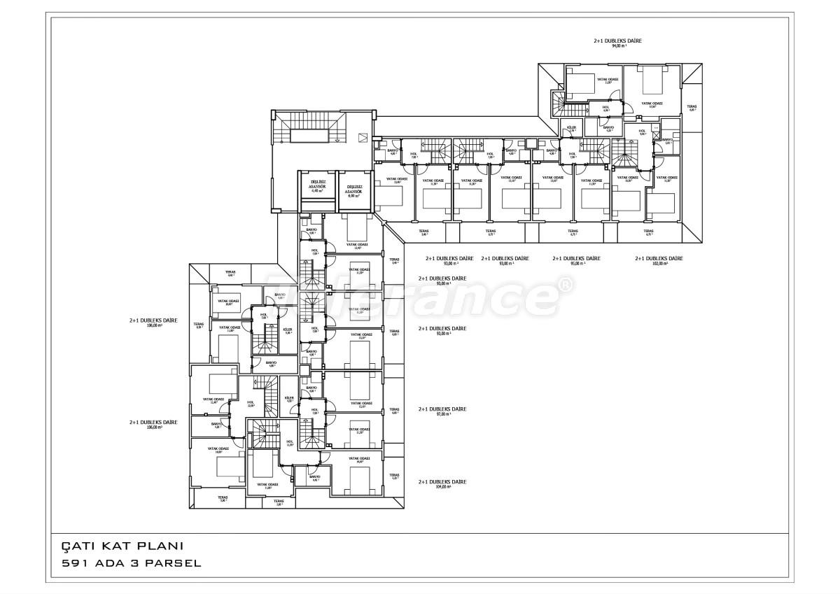 Новые апартаменты в Oба в комплексе с бассейном - 28457 | Tolerance Homes